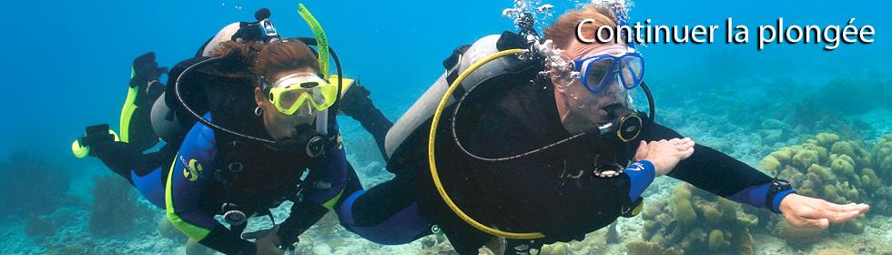Continuer la plongée sous-marine PADI Avec Deep Turtle